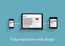 Responsive web design icon. Vector Illustration Stock Image
