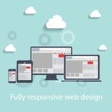 Responsive web design icon. Vector Illustration Royalty Free Stock Photos