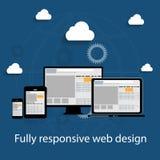 Responsive web design icon. Vector Illustration Stock Photo