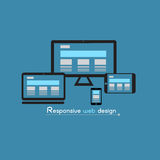 Responsive web design. Illustration Stock Image