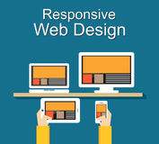 Responsive web design illustration. Banner illustration. Responsive web design illustration. Flat design. Banner illustration Royalty Free Stock Photo