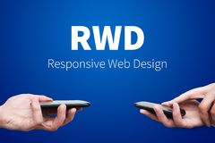 Responsive web design on mobile devices Stock Images