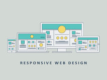 Responsive web design mockup template vector Stock Images