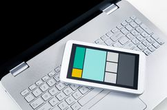 Responsive web design on multiple devices Royalty Free Stock Photos