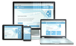 Responsive Web Design. Royalty Free Stock Photography