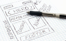 Responsive Web Design Sketch Stock Photos