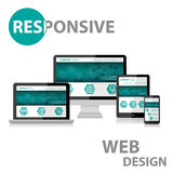 Responsive Web Design on Various Device Royalty Free Stock Photos