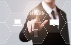 Responsive web design Website Business Technology Internet Concept Royalty Free Stock Photo