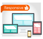 Responsive web design. Yes, this website is responsive! Vector illustration Stock Photo