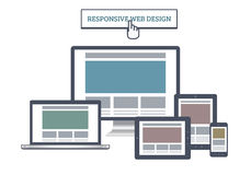 Responsive Web Mockup Royalty Free Stock Images