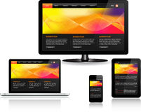 Responsive Web Template Royalty Free Stock Photo