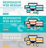 Responsive webdesign concept banner Royalty Free Stock Photos