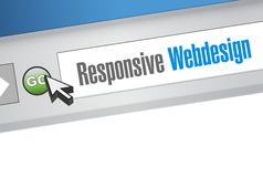 Responsive webdesign international browser Royalty Free Stock Photos