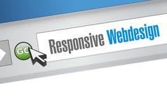 Responsive webdesign international browser Royalty Free Stock Photos
