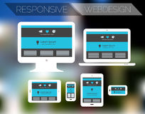 Responsive webdesign technology page design Stock Photo