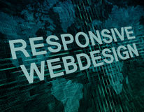 Responsive Webdesign Royalty Free Stock Images