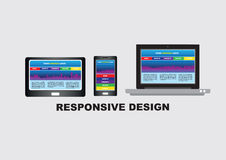 Responsive Website Design Conceptual Vector Illustration Royalty Free Stock Photos