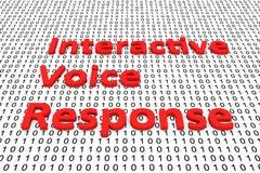 Resposta de voz interativa Imagem de Stock