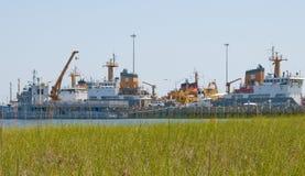 Resposta do derramamento de petróleo da costa do golfo Imagens de Stock Royalty Free