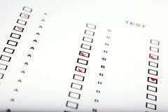Resposta para o teste Fotos de Stock