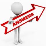 Respostas Fotografia de Stock