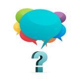 Respostas da pergunta Foto de Stock