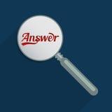 Respostas e perguntas ilustração do vetor
