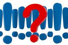 Respostas e perguntas isoladas Imagens de Stock