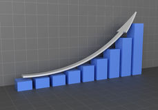 Respresentação gráfica do aumento do lucro Fotos de Stock Royalty Free