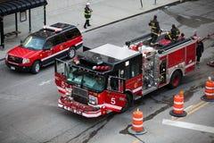 Respuesta del coche de bomberos - Chicago, Illinois Foto de archivo libre de regalías