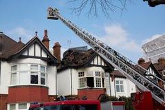 Respuesta del fuego en Londres, Reino Unido foto de archivo libre de regalías