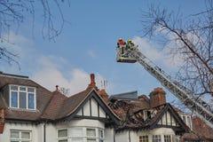 Respuesta del fuego en Londres, Reino Unido imagen de archivo