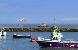 Resque-Operationsanzeige Folkestone Großbritannien Lizenzfreies Stockbild