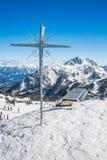 Resrot лыжи в Альпах Стоковая Фотография