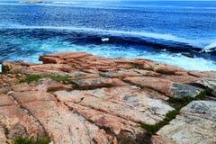 Ressac côtier Maine de roche Photo libre de droits