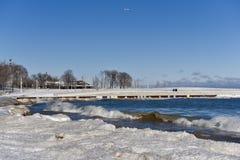Ressac d'hiver au parc de route express de Fullerton images stock
