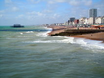 Ressac de Brighton images libres de droits