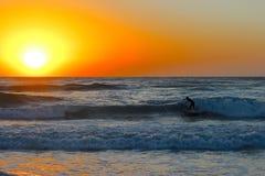 Ressac de lever de soleil Photographie stock libre de droits