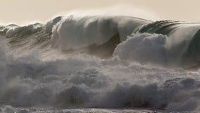 Ressac de tempête d'hiver de monstre de baie de Waimea photographie stock