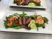 Ressac et salade de gazon Photographie stock libre de droits