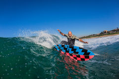 Ressac Rider Carving Wave Water-Photo Photo libre de droits