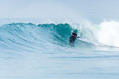 Ressac surfant de Bodyboarder Photos libres de droits