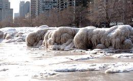 Ressaca congelada Fotografia de Stock