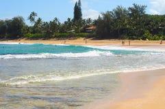 Ressaca da praia de Haena Fotografia de Stock Royalty Free