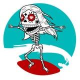 Ressaca de esqueleto imagem de stock