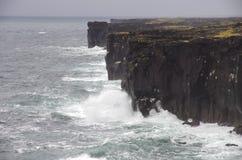 Ressaca de Islândia Fotos de Stock Royalty Free