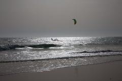 Ressaca do céu no por do sol em Cadiz Imagens de Stock