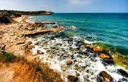 Ressaca do mar Fotografia de Stock
