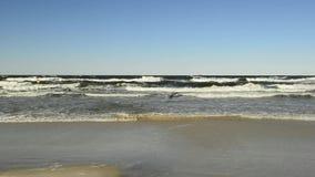 Ressaca do mar Báltico no Polônia filme