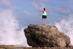 Ressaca do oceano Foto de Stock